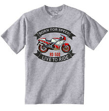 YAHAMA RD 500 - NEW COTTON GREY TSHIRT - ALL SIZES IN STOCK