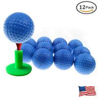 Foam Sponge Golf Balls For Swing Practice Training Indoor Outdoor Blue 12 Pack