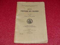 [Bibl RENE COTTRELL ANTILLES MARTINIQUE] REVUE HISTOIRE COLONIES 1949 # 3-4 Trim