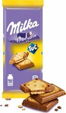 "Russian milk chocolate ""Milka"" with salted cracker TUC 97 gr (3.42 oz)"