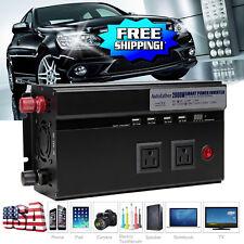Power Inverter Car USB 2000Watt /4000W Peak Charger 12V DC To 120V AC Converter