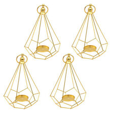 4x Metal Diamond Shaped Tealight Candle Holder Wedding Party Table Decor