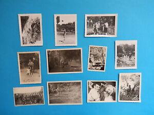 LOT DE 11 petites PHOTO  SCOUT SCOUTISME CAMP BASKET ESCALADE LT1