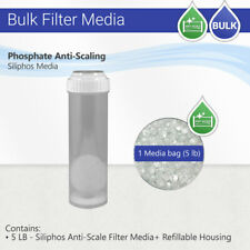 Max Water Siliphos Anti-Scale Filter Media 5-Pound Bag 5 Lbs with Clear Housing