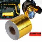 "2"" 33' Self Adhesive Reflective High Temperature Heat Shield Wrap Tape Metallic"