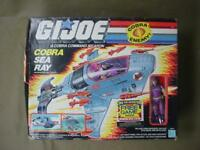 VINTAGE GI JOE COBRA  SEA RAY W/ SEA SLUG BOX COMPLETE  MIB 1987