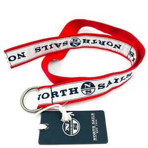 NORTH SAILS White Red Strong Fabric Yachting Sailing Belt Universal Size