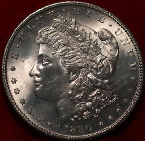 Uncirculated 1890-S San Francisco Mint Silver Morgan Dollar
