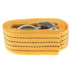 10ft Tow Strap Rope 2 Hooks 10,000 lb Heavy Duty Nylon Webbing Towing Yellow