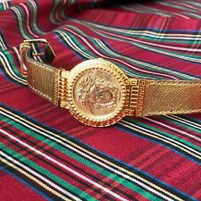 GIANNI VERSACE SIGNATURE Medusa Gold Plated G10 Men's Watch w/ box from 1993