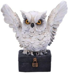 Ornament/Decoration/Statue/Figurine/Bird - Archimedes - White Horned Owl