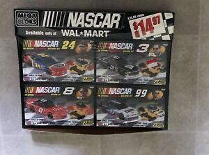 New  Old Stock 2000 Mega Blocks NASCAR Lot of 4 Race Cars 27 Pcs Each