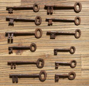 Antique Keys – Skeleton, Furniture, Door, Cabinet, Old Lock – Mixed Set of 12