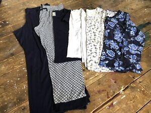 Blue White Floral Pyjama Bundle X6 PJ Bottoms Short & Long Sleeve Top 14 16 18