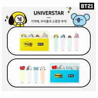 BTS BT21 Official Authentic Goods Post it Flag 2SET + Tracking Code