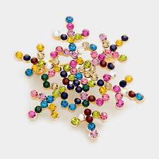 NEW Christmas Hoilday Snowflake Brooch Pin Colored Swarovski Sparkling Crystals