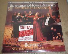 Sutherland/Horne/Pavarotti LIVE FROM LINCOLN CENTER - London LDR 72009 SEALED