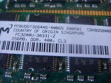 Micron 512MB 2 x 256MB MATCHED  PC3200U DDR 400MHz  Memory MT8VDDT3264AG-40BG5