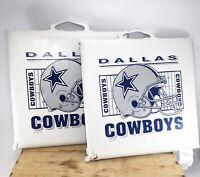 VTG 2-NFL Dallas Cowboys STADIUM SEAT CUSHION Handle Padded Bleacher Pad Game 93