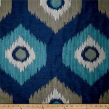 Swavelle Millcreek Del Ray Atlantic Dark  Blue Ikat  Upholstery Drapery Fabric