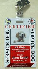 HOLOGRAM SERVICE DOG / PET ID CARD BADGE  FOR SERVICE ANIMAL PROFESSIONAL TAG 29
