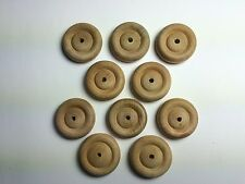 10 x 37mm Wooden Wheels for Model Making