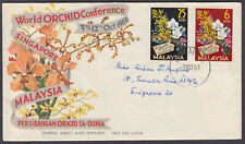 Malaysia World Orchid Conference FDC; Singapore CDS; 1963