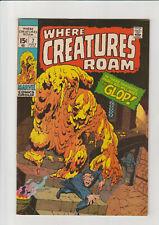 Where Creatures Roam #7 F+ 1971 Marvel Comic Kirby Glop