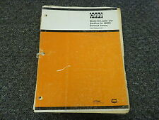 Case 35 Loader and Backhoe for 580CK Series B Tractor Part Catalog Manual G1151