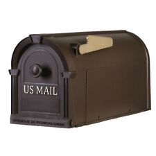 Postal Pro Mailbox Post Mount Hampton Bronze Gold Durable Large Non Rust Decor
