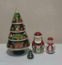 Russian Nesting Dolls Matreshka Christmas Tree 4 pcs Nice Gift/ Decoration