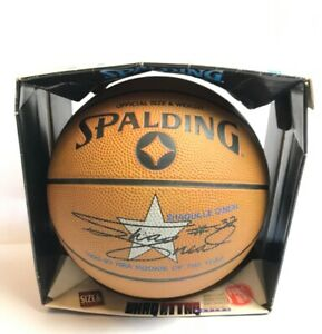 Vintage Spalding Shaquille O'Neal NBA Rookie Of The Year Basketball Shaq Attaq