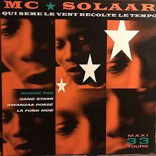 MC SOLAAR • Qui Seme Le Vent Recolte Le Tempo • Vinile 12 Mix • 1991 POLYDOR