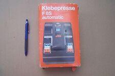 Film Camera Access.- AGFA KLEBEPRESSER F8S automatic SUPER 8 SPLICER / COLLEUSE