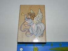 Stampendous Rubber Stamp Precious Moments Trumpet Angel with Wings & Halo