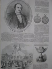 Prince Albert lays foundation new chapel at ease Eton 1852 old print my ref S