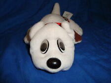 """Pound Puppies White w/ brown spots & droopy eyes 8""""long"""