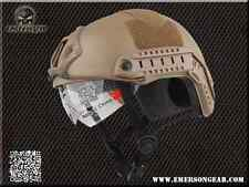 ELMETTO  EMERSON FAST MH DESERT CB HELMET STREAM TAN CON LENTI SOFTAIR OUTDOOR