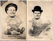2 Old CLEVELAND Ohio RPPC Real Photo Man Postcards HART Foto Shop