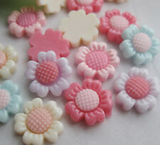 20PCS Resin Flower Flatback Buttons DIY Scrapbooking Appliques JCN055