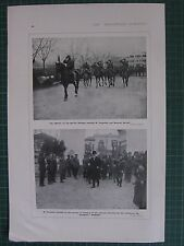 1917 WWI WW1 PRINT ~ OFFICERS OF SERRES DIVISION M. VENIZELOS GNERAL SARRAIL