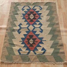 HOME DECORATIVE TURKISH HANDWOVEN RECTANGLE WOOL GREEN KILIM 20+ AREA RUGS 3X4ft