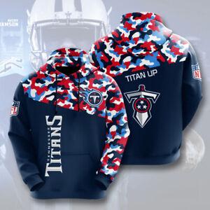 Tennessee Titans Hoodies Pullover Football Hooded Sweatshirt Casual Jacket