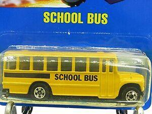 HOT WHEELS VHTF BLUE CARD SERIES SCHOOL BUS #72