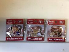 NFL GAME DAY PIN  LOT OF 3 SAN FRANCISCO 49ERS VS CHARGERS RAVENS VIKINGS