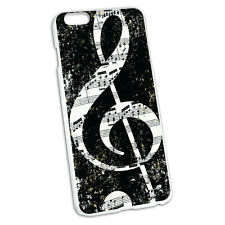 Vintage Treble Clef Music Black Hard Protective Case for Apple iPhone 6 6s Plus