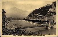 Grenoble Frankreich s/w AK 1929 gelaufen Pont suspendu et Sainte Marie d'en Haut