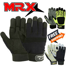 Work Gloves Mechanic Glove Heavy Duty All Purpose Stretchable Flex Grip