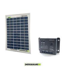 Kit Solare Fotovoltaico 5W 12V Regolatore PWM 5A Epsolar Camper Casa Nautica Ill