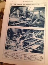 74-5 Ephemera 1916 Picture Zieriksee Night Bombing 2 Pages Holland